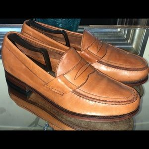 SAS Handsewn Men's Penny Loafers Tan Leather SZ 10